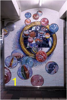 Lisa Dinhofer Mosaic Art NYC MTA Subway Station at Times Square Mosaic Tile Art