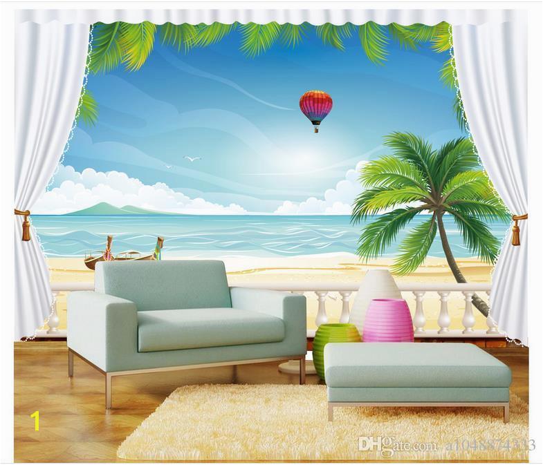 Ocean Murals Wall Decor High End Custom 3d Wallpaper Murals Wall Paper Hot Air Balloon