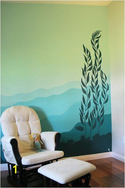 Ocean Murals Wall Decor My Underwater Kelp forest Mural On the Nursery Wall