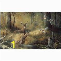 99x164 October Memories Deer Ducks Hunting Huge Wall Mural Wall Murals Mural