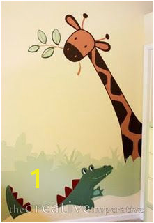 jungle room mural instructions Jungle Nursery Jungle Room Safari Bathroom Murals For Kids