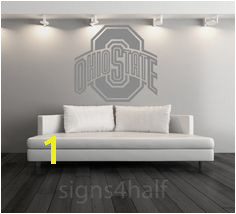 Ohio State Buckeyes Football Removable Wall Art by Signs4Half Ohio State Football College Football