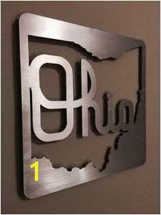 Ohio State Metal Sign Wall Art