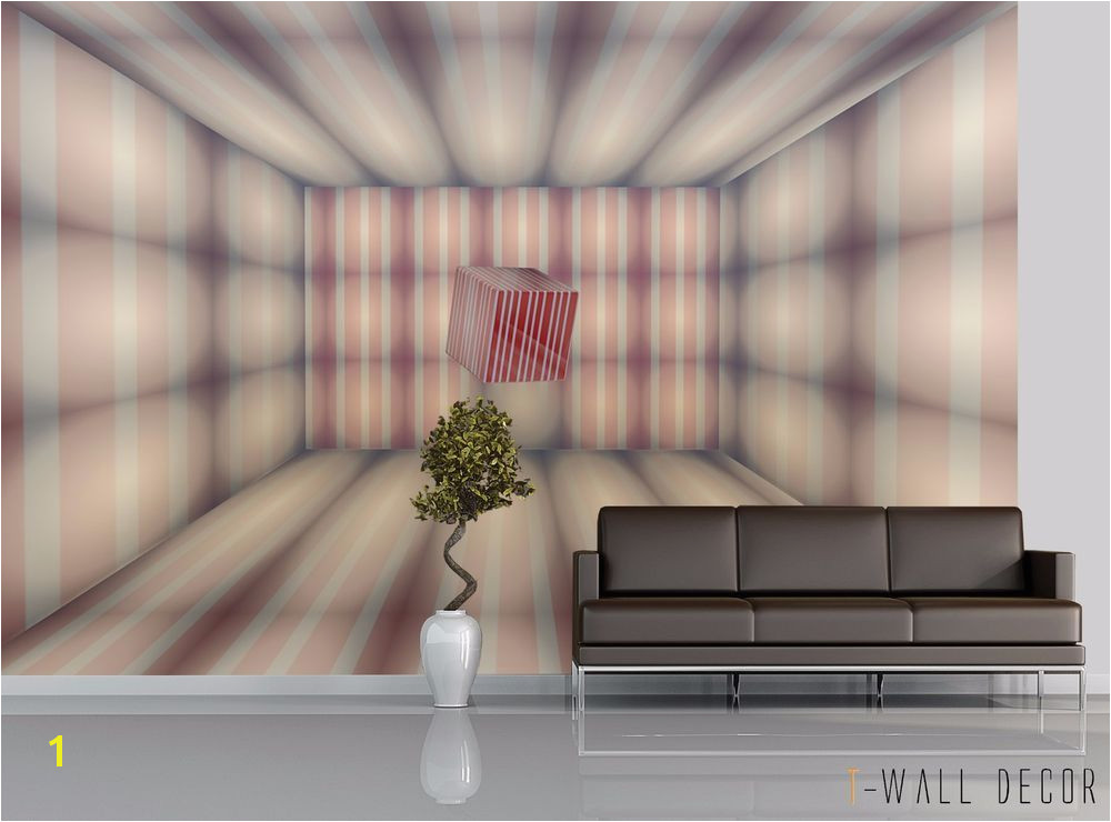 Wallpaper Mural Room Modern Art WALL DECOR 3D Square Optical Illusion Unbranded