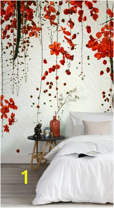 Red Blossom Wallpaper Wall Mural