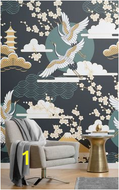 oriental bird wallpaper Design Oriental Bird Wallpaper Bedroom Wall Wallpaper Pattern