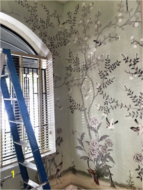 Chinoiserie Wallpaper Oriental Trees Flowering Branch Exotic Birds Wall Mural Traditional Japanese P
