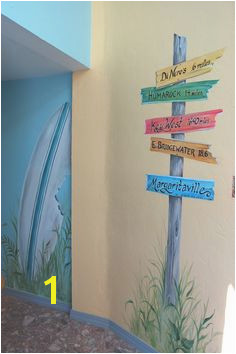 Hand Painted Beach Mural in hallway More Beach Room Fence Painting Mural Painting