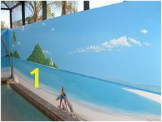 beach mural insp Beach Scene Painting Faux Painting Fence Painting Tropical Landscaping