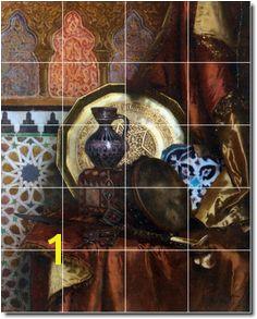 Rudolf Ernst Still Life Ceramic Tile Mural 10 Picture Tiles Tile Murals Moroccan Tiles