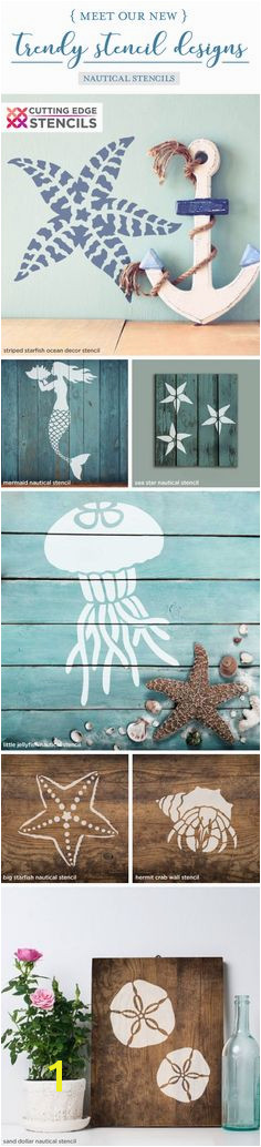 Cutting Edge Stencils shares a New wall stencil collection that includes beach inspired and nautical patterns