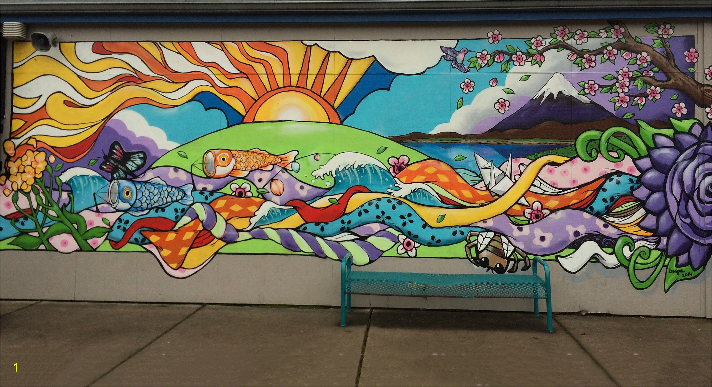 Outdoor Wall Mural Stencils Elementary School Mural Google Search