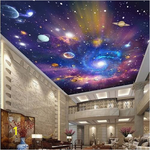 High end 3d galaxy stars and planets ceiling wallpaper Great quality universe photo wall mural