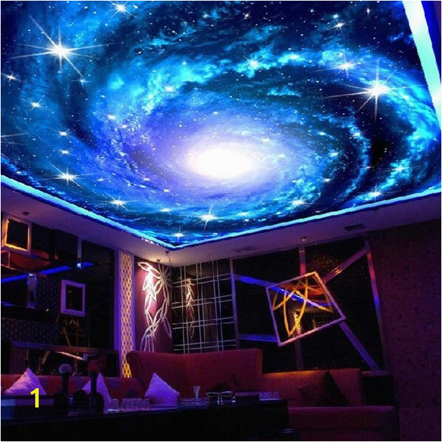 Universe Space Ceiling Murals Wallpaper 3D Wall Paper Rolls for Living Room Wallpaper for Walls