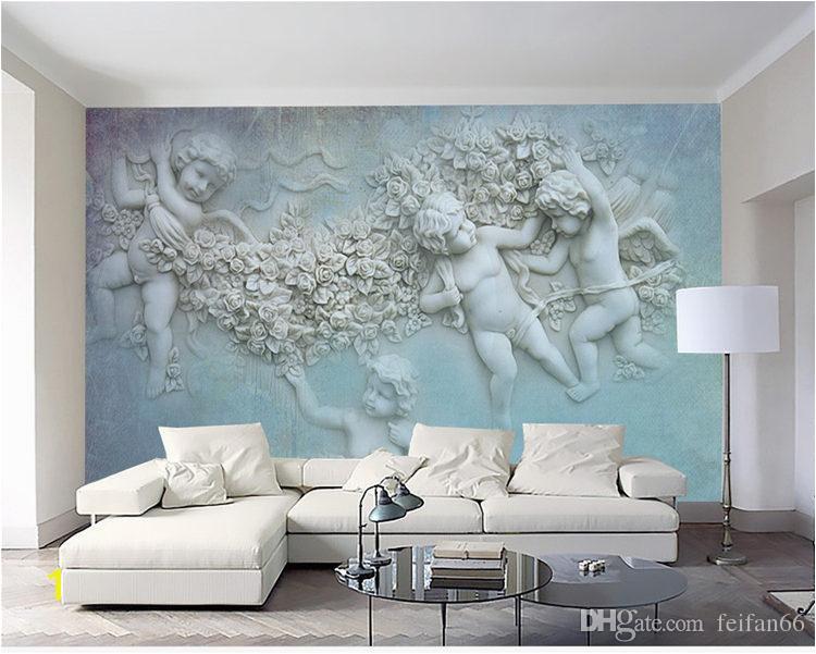3d European small angel Cupid TV background wall custom large wall murals silk silk wallpaper papel