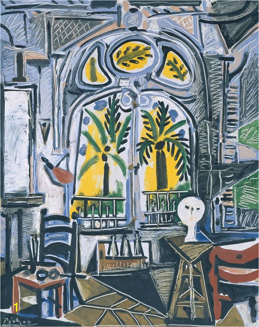 "Oil on canvas We d call this a ""Resort Chic Space"" by Picasso"