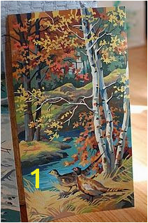 vintage paint by number…so popular when I was a kid Autumn Painting