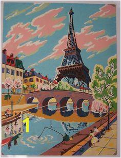Eiffel Tower paint by numbers painting Number Art Vivi Tour Eiffel Paris