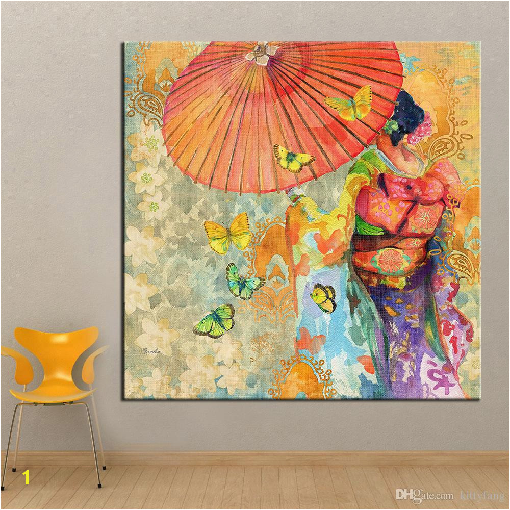 2019 1 Panel Wall Art Japanese Kimono Oil Painting Canvas Wall Picture For Living Room Wall Art Posters And Prints No Framed From Kittyfang