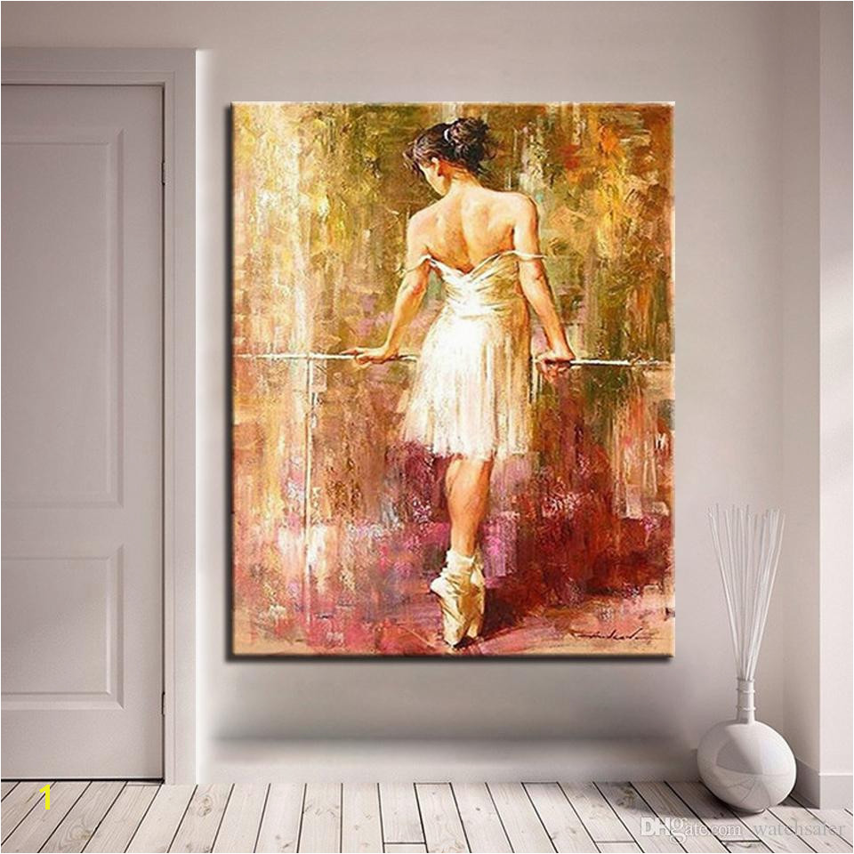 Paint by Number Wall Murals for Adults 2019 Diy Digit Oil Painting by Numbers Handpainted Ballet Dancer