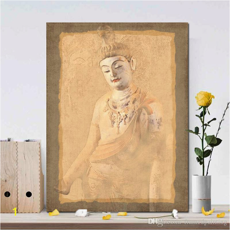 2019 Beautiful Murals Posters And Prints Wall Art Painting Canvas Buddha Decorative For Living Room Home Decor No Frame From Framedpainting