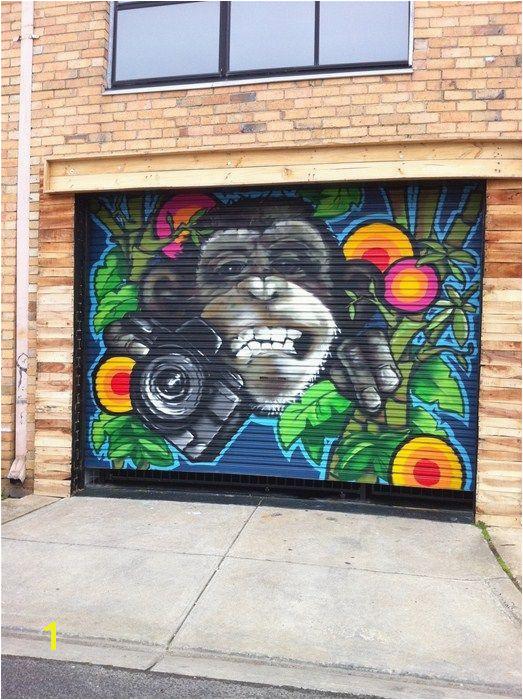 Funky Ape Garage Door Seddon Victoria Australia Image Garage Door Paint Garage