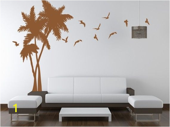 Palm Trees Vinyl Wall Art Decal from ghettovinyl