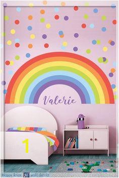 Rainbow Wall decal Pastel Rainbow Wall Decal Pastel Polka dot Pastel Rainbow decoration