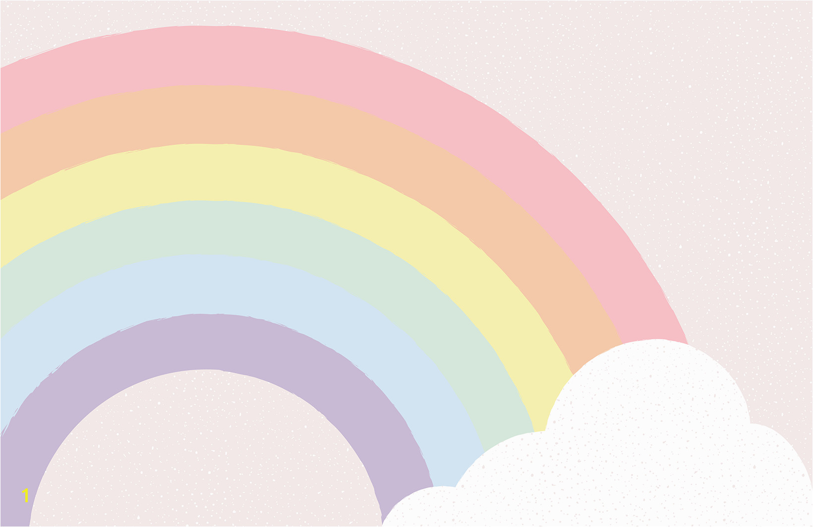 This playful kids pastel rainbow wallpaper mural is a sweet design perfect for bedrooms or playrooms A special rainbow design featuring soft pastels