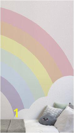 Kids Pastel Rainbow Wallpaper Mural