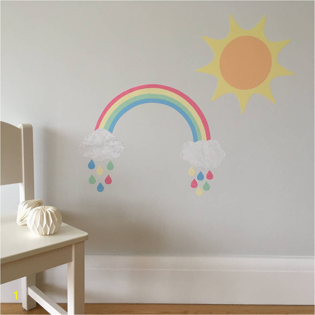 Rainbow And Sun Wall Stickers