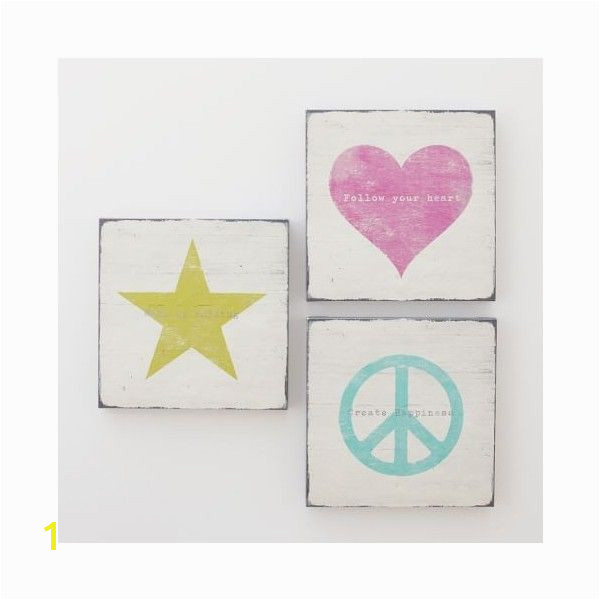 Icon Sentiments Wall Art Set of 3