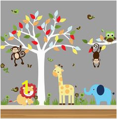 Nursery Jungle Decal Tree Wall Decals by NurseryWallBoutique $30 00 Jungle Nursery Nursery Decor