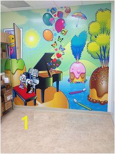 Illustrated murals by Mark C Collins for children s dentist office markcollinsillustration