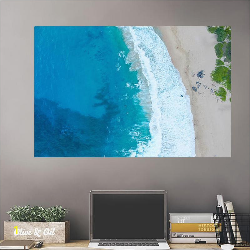Rocks Blue Majestic Ocean Wall Decals Wall Decals on Wall