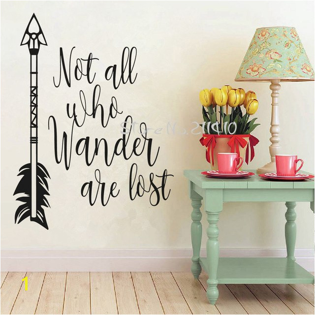 Not all who wander are lost inspirational wall decals quote removable vinyl wall sticker home decor living room mural A706