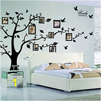 X DIY Family Tree Wall Art Stickers Removable Vinyl Black Trees Frames Wall