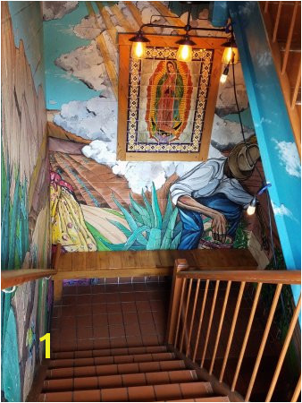 Penn State Mural Walk Down Stairs to Access Restaurant Nice Murals Art Picture