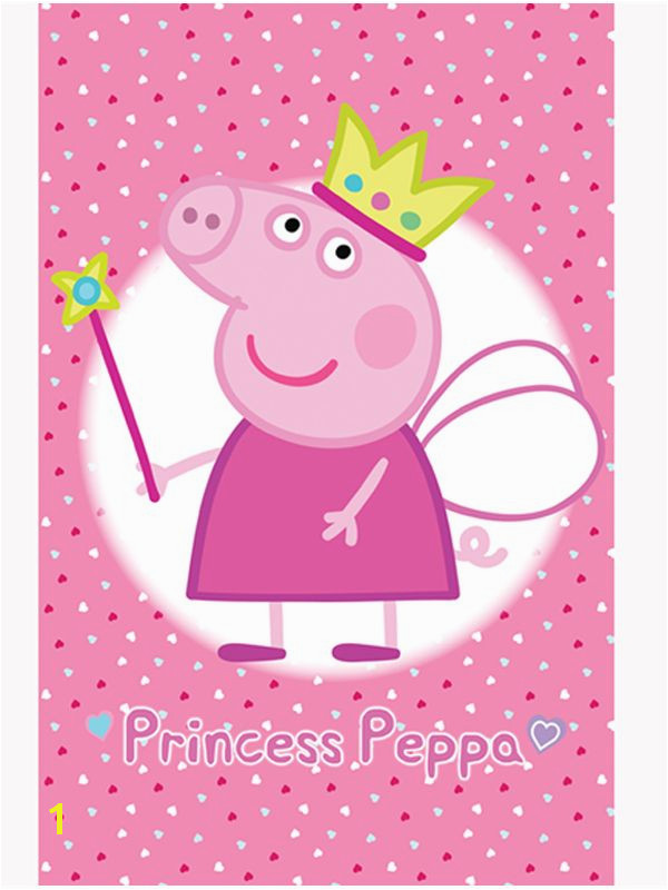ficial Peppa Pig Princess Wall Mural es in Six Sections for Easy Application Free UK Delivery Available