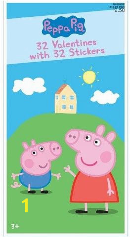 Peppa Pig Wall Mural Paper Magic 32ct Valentine S Day Peppa Pig Cards with Stickers