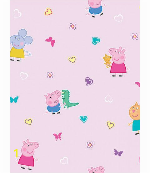 This Peppa Pig Wallpaper features Peppa and George Pig Emily Elephant and Candy Cat on