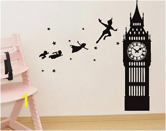 Wall Decal Peter Pan Cartoon Ship Pirates Hook Sticker Bedroom Kids Girls Boys Teenager Room Customized 555uk