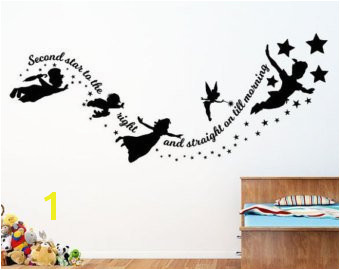 Peter Pan Second Star to the Right Vinyl Wall Decal Sticker
