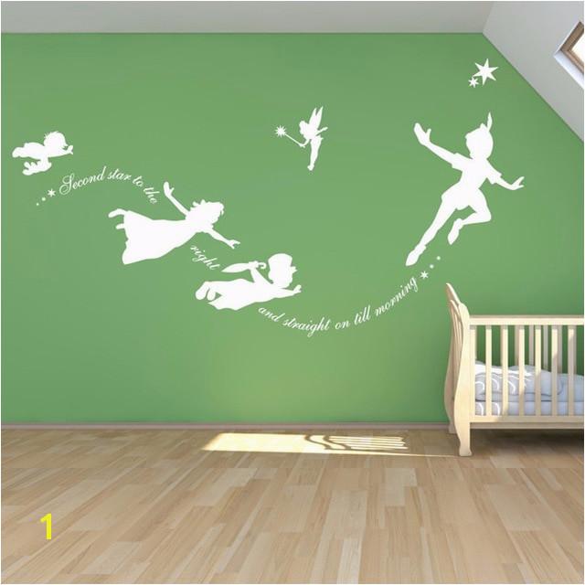 Peter Pan Wall Decal Vinyl Stickers Baby Nursery Bedroom Wall Art Mural Kids Wall Sticker Room Decoration Cartoon Home Decor