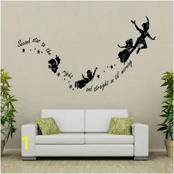 Tinkerbell Second Star To The Right Peter Pan Home Wall Decal St