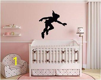 Peter Pan Wall Decal Vinyl Sticker Disney Shadow Character Art Silhouette for Kids Playroom Bedroom Nursery