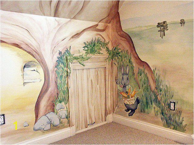 Peter Rabbit Wall Mural Beatrix Potter Mural Cubbyhole4 In 2019