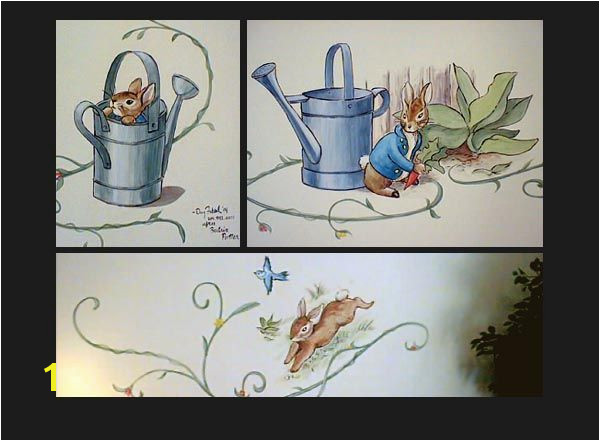 Peter Rabbit Wall Mural Beatrix Potter Murals for Child S Room Images