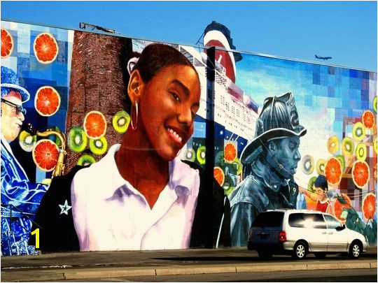 Murals are everywhere This one is on the side of a supermarket Yes they are EVERYWHERE in South Philadelphia There are mural tours available in most
