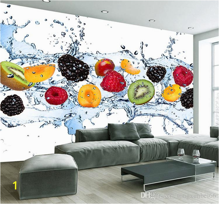 Photographic Wall Murals Custom Wall Painting Fresh Fruit Wallpaper Restaurant Living